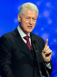 Former President Bill Clinton delivers a speech at the Patient Safety Science & Technology Summit in Dana Point, Calif., on Monday Jan. 14, 2013.
