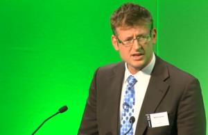 Mark Lynas is shown at the Oxford Farming Conference.