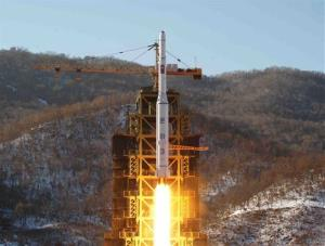 In this Dec. 12, 2012 file photo, North Korea's Unha-3 rocket lifts off from the Sohae launch pad in Tongchang-ri, North Korea.