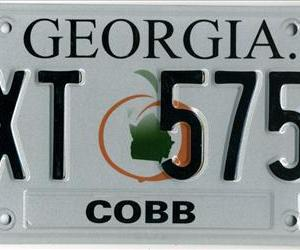 An example of a Georgia license plate.