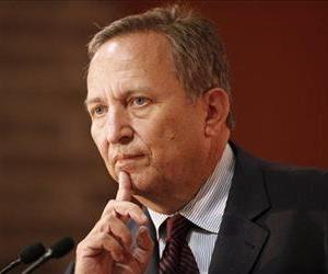 In this Oct. 16, 2009, file photo, Larry Summers, White House chief economic adviser, speaks at the Buttonwood Gathering in New York.