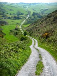 An Irish road, sans drunken drivers.