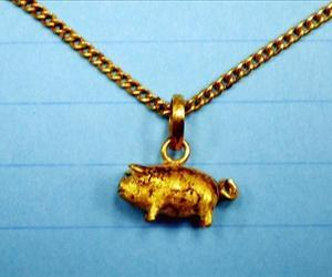 This pig pendant was found on the body.
