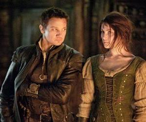 This film image released by Paramount Pictures shows, from left, Famke Janssen as Muriel, Jeremy Renner as Hansel and Gemma Arterton as Gretel in a scene from Hansel & Gretel: Witch Hunters.