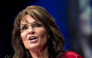 In this Feb. 11, 2012, photo, Sarah Palin speaks in Washington.