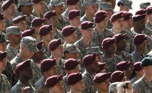 A file photo of troops at Fort Bragg.