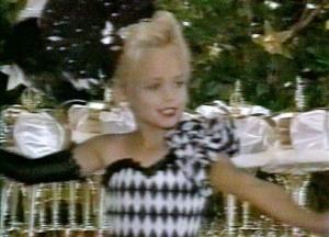 This file image made from an undated family video shows JonBenet Ramsey performing during a beauty pageant.