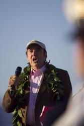 Jim Nabors sings the national anthem during the the 69th anniversary ceremony marking the attack on Pearl Harbor, Tuesday, Dec. 7, 2010.