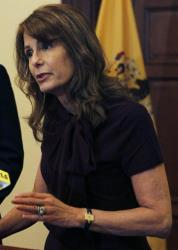 In this photograph taken Monday, Jan. 3, 2011, in Trenton, NJ, Sen. Barbara Buono talks during a news conference.