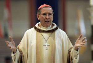 In this Sept. 22, 2007 file photo, Cardinal Roger Mahony speaks during an annual multi-ethnic migration Mass at the Cathedral of Our Lady of the Angels in Los Angeles.