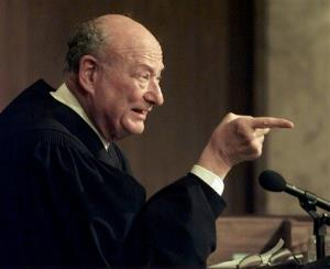 Ed Koch, in 1997, while presiding over the 'People's Court.'