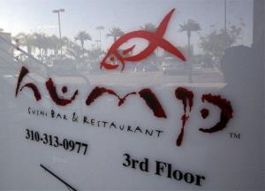 A sign at the since-closed Hump Restaurant is seen in Santa Monica, Calif., in 2010.
