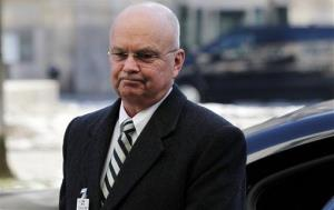 Former CIA Director Michael Hayden arrives at the Munich Security Conference, Friday Feb. 3, 2012.