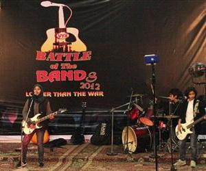 In this Dec. 23 photo, members of Kashmir's first all-girl rock band, Pragaash, or First Light, perform at the annual 'Battle of the Bands' in Srinagar, India.