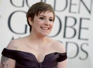 Lena Dunham arrives at the 70th Annual Golden Globe Awards at the Beverly Hilton Hotel on Sunday Jan. 13, 2013, in Beverly Hills, Calif.