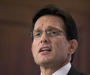 House Majority Leader Eric Cantor gives a policy address Tuesday at the American Enterprise Institute (AEI) in Washington.