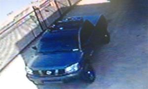 This photo released by the Irvine Police Department showing what is believe to be the car of  Christopher Dorner, a former Los Angeles officer.
