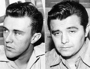 This combo made from file photos shows Richard Hitchcock, left, and Perry Smith, the murderers.