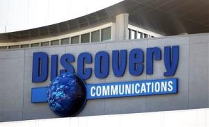 The Discovery Communications networks headquarters building sign is shown in Silver Spring, Md., Wednesday, Sep. 1, 2010. A gunman with what police described as concerns with the Discovery Channel networks took at least one person hostage in the company's headquarters.