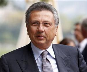 Then-AgustaWestland Group CEO Giuseppe Orsi attends the Intelligence on the World, Europe, and Italy economic forum, at Villa d'Este, in Cernobbio, Italy, Sept. 3, 2010.
