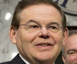 Sen. Robert Menendez, D-NJ, is seen on Capitol Hill.