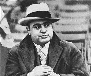 Chicago mobster Al Capone attends a football game in Chicago, Jan. 19, 1931.