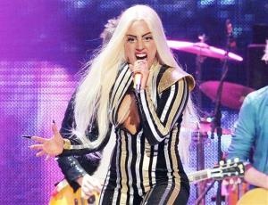 This Dec. 15, 2012 file photo shows singer Lady Gaga performing at the Prudential Center in Newark, NJ.