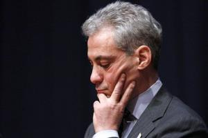 Chicago Mayor Rahm Emanuel listens during a forum on education at American University in Washington last year.