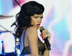 This Nov. 19, 2012 file photo shows Rihanna performing at the Kentish Town Forum in London.