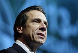 New York Gov. Andrew Cuomo presents his 2013-14 Executive Budget address on Tuesday, Jan. 22, 2013, in Albany, NY.