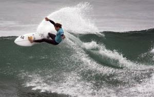 A surfer at Lowers Trestles near San Clemente, Calif.