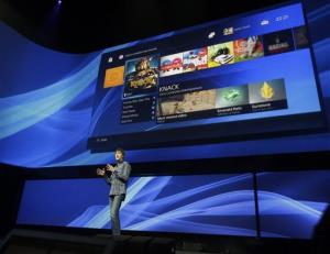 Mark Cerny, lead system architect for the PlayStation 4, introduces the console in New York.
