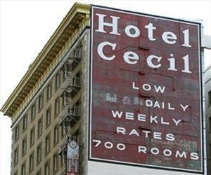 Hotel Cecil in Los Angeles is seen in a Wednesday Feb. 20,2013 photo.
