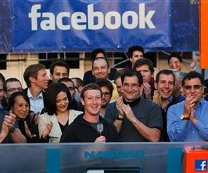 Mark Zuckerberg is seen celebrating Facebook's IPO in this file photo.
