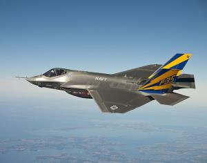 The US Navy variant of the F-35 Joint Strike Fighter, the F-35C.