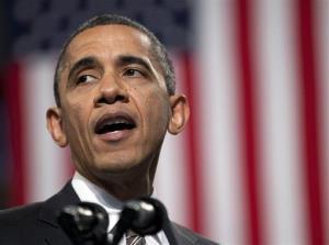 In this Feb. 15, 2013 file photo, President Barack Obama speaks in Chicago.