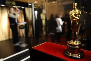 A general view of an Oscar statuette at the ribbon cutting of the 'Meet The Oscars' event at Grand Central Station in New York on Wednesday, Feb. 23, 2011.