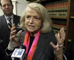 A 2012 file photo of Edith Windsor, whose dispute with the IRS has led to a Supreme Court fight on gay rights.