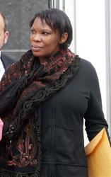 Beatrice Munyenyezi leaves the federal courthouse in Concord, N.H., in this 2012 file photo.