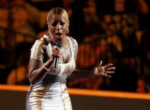 This Sept. 6, 2012 file photo shows singer Mary J. Blige performing during the Democratic National Convention in Charlotte, NC.