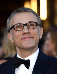 Actor Christoph Waltz arrives at the Oscars at the Dolby Theatre on Sunday Feb. 24, 2013, in Los Angeles.