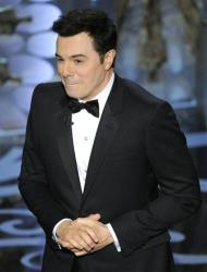 Host Seth MacFarlane performs onstage during the Oscars at the Dolby Theatre on Sunday Feb. 24, 2013, in Los Angeles.