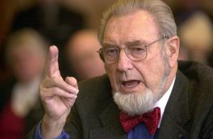 In this Feb. 12, 2002 file photo, former US Surgeon General, Dr. C. Everett Koop testifies in Concord, NH.