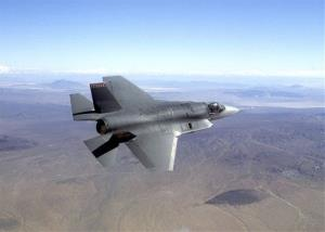 This undated photo provided by Northrop Grumman shows a pre-production model of the F-35 fighter jet.