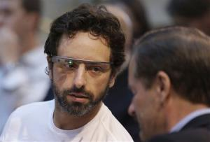 Google co-founder Sergey Brin, left.