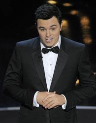 Host Seth MacFarlane speaks onstage during the Oscars.