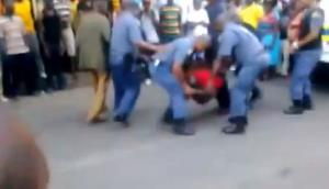 A frame grab from video of the incident.