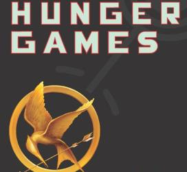 A portion of the 'Hunger Games' book cover.