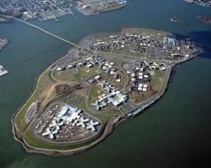 The Rikers Island complex on New York's East River.