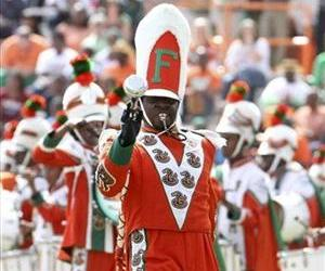 In this Oct. 8, 2011 file photo, Florida A&M Marching 100 Drum Major Robert Champion performs during a halftime show.